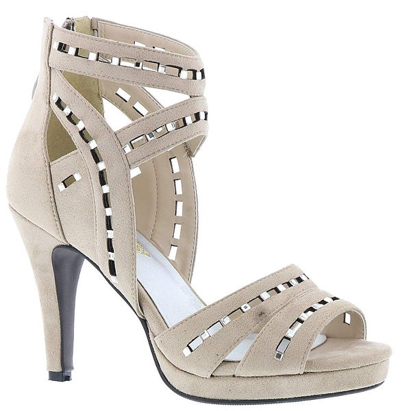 Beacon Womens Image Suede Open Toe Casual Ankle Strap Sandals