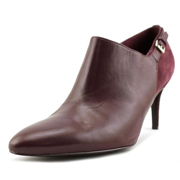 Lauren Ralph Lauren Pabla Women Round Toe Suede Burgundy Heels