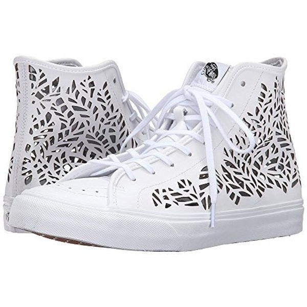 6b1a5f7c81 Shop Vans SK8 HI DECON Cut-Out Leaves White Women s Shoes - Free ...