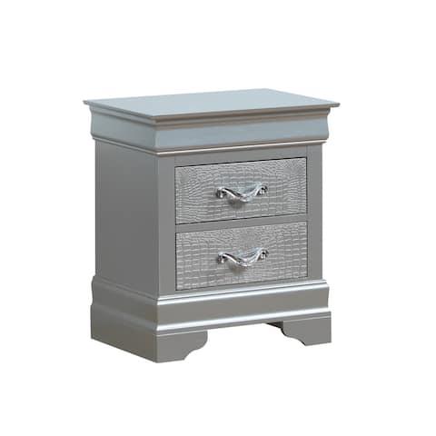Lorana 2-drawer Wooden Nightstand