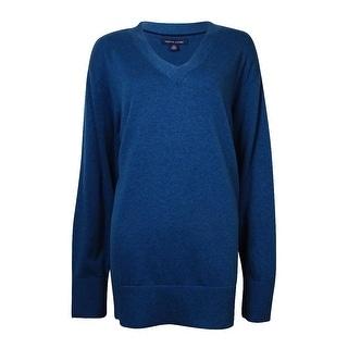 Tommy Hilfiger Women's V-Neck Cotton Tunic Sweater