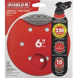 "Diablo 10Pk 6""220G Sanding Disc"