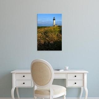 Easy Art Prints Rick A Brown's 'Historic Yaquina Head Lighthouse' Premium Canvas Art