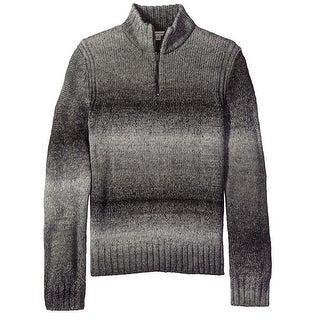 Calvin Klein NEW Gray Space Dye Mens XL Quarter Zip Stripe Sweater