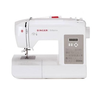 Singer Sewing 6180 Brilliance Sewing Machine, White/Gray
