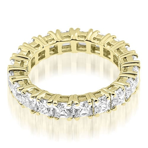 3.50 cttw. 14K Yellow Gold Stylish Bezel Set Round Cut Diamond Eternity Ring