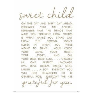 Anna Quach Poster Print entitled Sweet Child Letter
