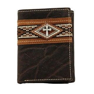 Ariat Western Wallet Mens Trifold Diamond Cross Brown A3518002 - One size
