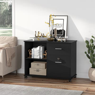Mobile File Cabinet with Lockable Drawers