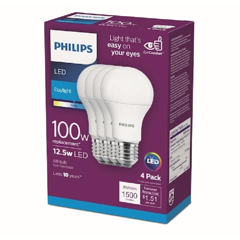 Philips 542976 A-Line A19 LED Bulb, Frosted, 15 Watts