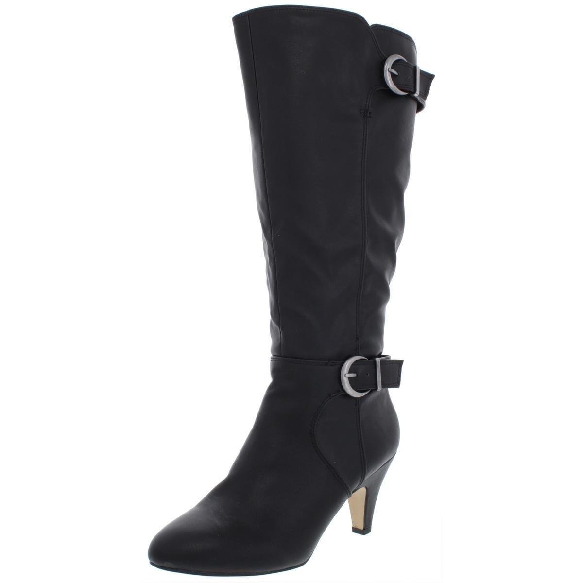 Details about Nikola Women's Knee High Side Zipper Faux Leather High Heel Boots Size 10