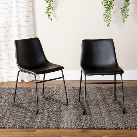 Carbon Loft Prusiner Faux Leather Dining Chair (Set of 2)