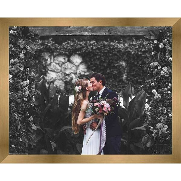 21x47 Metallic Bronze Wood Picture Frame With Acrylic Front and Foam Board Bac
