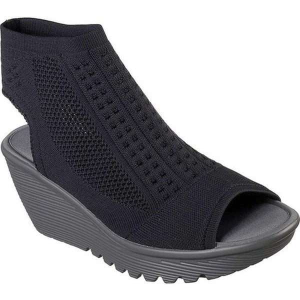 6adc5224be41 Shop Skechers Women s Parallel Tight Knit Wedge Sandal Navy - Free ...