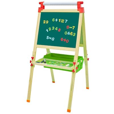 """70-121cm Shaft Magnetic Standing Art Easel Children's Lifting Easel with Tray - (28.15 x 22.44 x 2.56)"""""""