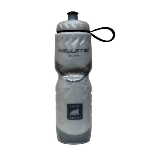 Water bottle cap polar zip stream royal blue