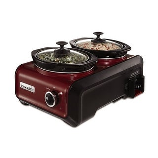 Crock-Pot SCCPMD1-R Hook Up Connectable Slow Cooker System 1-Quart Metallic Red - Metallic Red