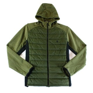 Polo Ralph Lauren NEW Green Black Mens Large L Quilted Puffer Jacket