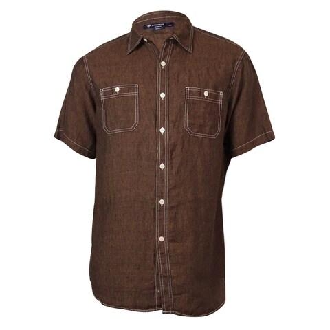 Cremieux Men's Classics Laundered Linen Shirt