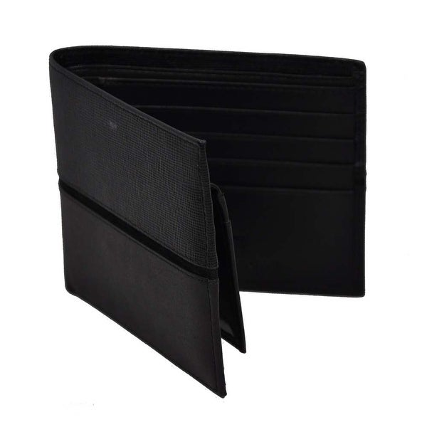 Trafalgar Mens Black Genuine Leather Wallet