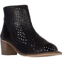 Kelsi Dagger Gateway Bootie Sandals, Black Leather