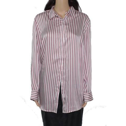Lauren by Ralph Lauren Womens Top White Size 1X Plus Button Down Shirt