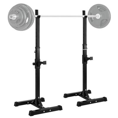 Barbell Rack Stand, Adjustable Squat Rack, for Gym/Home - N/A