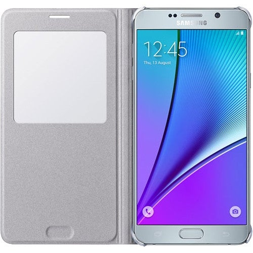 Samsung S-View Flip Cover for Samsung Galaxy Note5 - Silver S-View Flip Cover