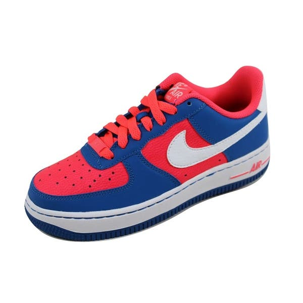 4f4baaa35 Nike Grade-School Air Force 1 Laser Crimson/White-Military Blue 596728-606 Size  4.5Y