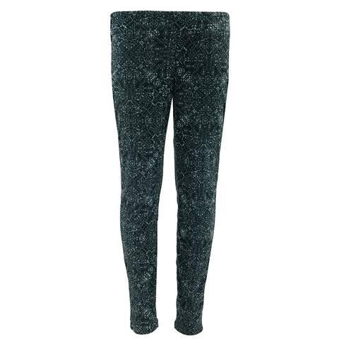 Columbia Girl's Glacial Fleece Printed Leggings - Black Snowflake