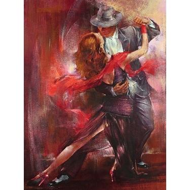 ''Tango Argentino II'' by Pedro Alvarez Latino Art Print (31.5 x 23.5 in.)