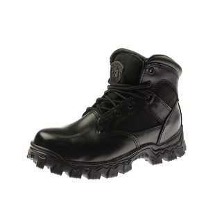 Rocky Mens Alpha Force Leather Slip Resistant Work Boots - 4 wide (e)
