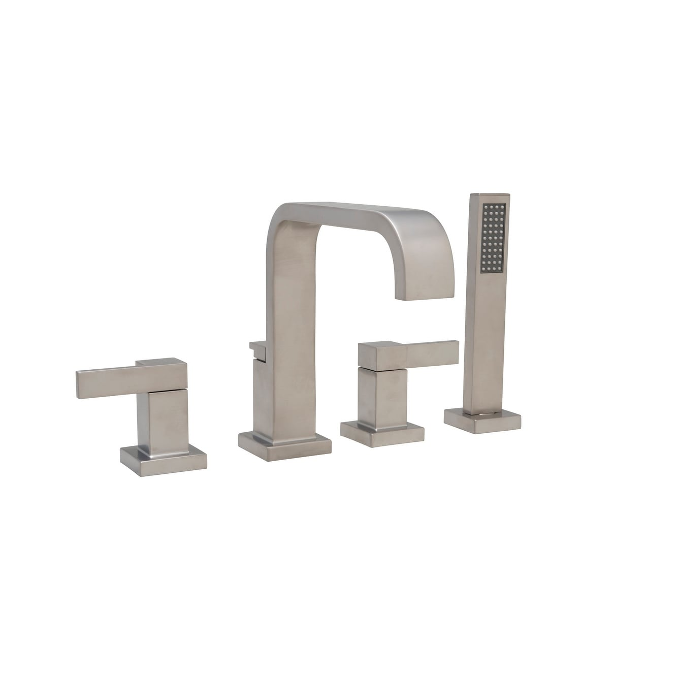 Mirabelle Mirri4rt Rigi Deck Mounted Roman Tub Faucet With Integrated Diverter And Personal Hand Shower N A