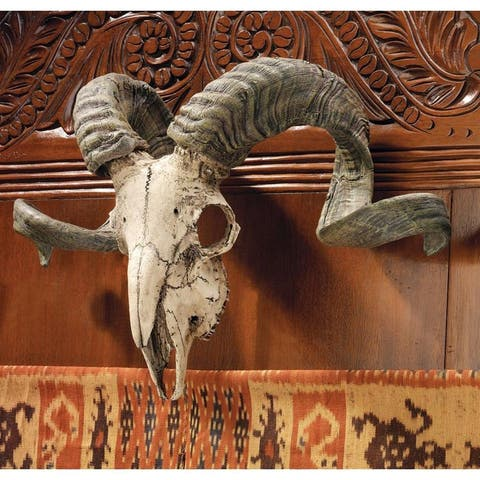Design Toscano Corsican Ram Skull and Horns Wall Trophy
