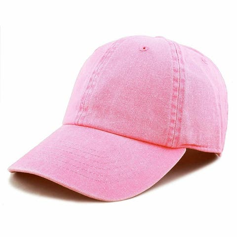 Newhattan hats 100% cotton solid colors pigment dyed baseball caps