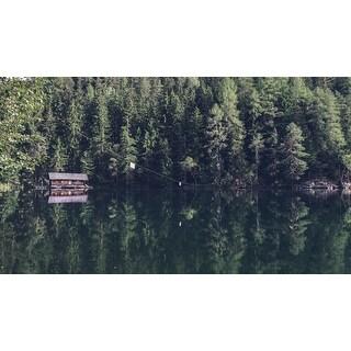 Cabin On Lake Photograph Art Print