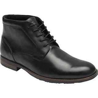 Rockport Men's Dustyn Chukka Boot Black Leather