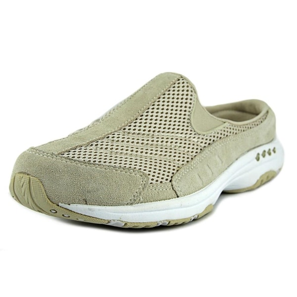 Easy Spirit Traveltime Women  Round Toe Suede Tan Mules