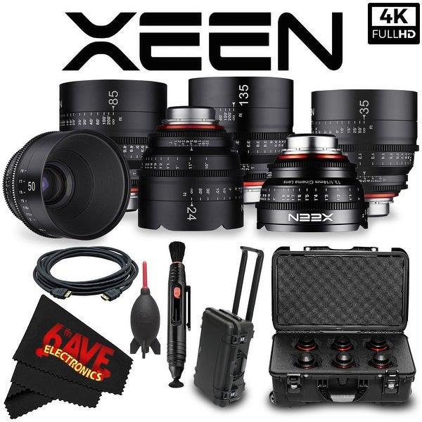Rokinon Xeen 14mm T3.1 Lens for Canon EF Mount (XN14-C) + Rokinon Xeen 24mm T1.5 Lens for Canon EF Mount Bundle