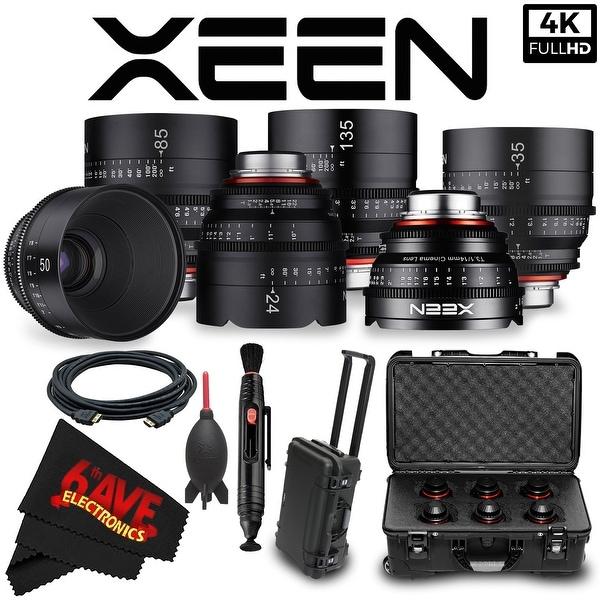 Rokinon Xeen 14mm T3.1 Lens for PL Mount (XN14-PL) + Rokinon Xeen 24mm T1.5 Lens + Rokinon Xeen 35mm T1.5 Lens Bundle
