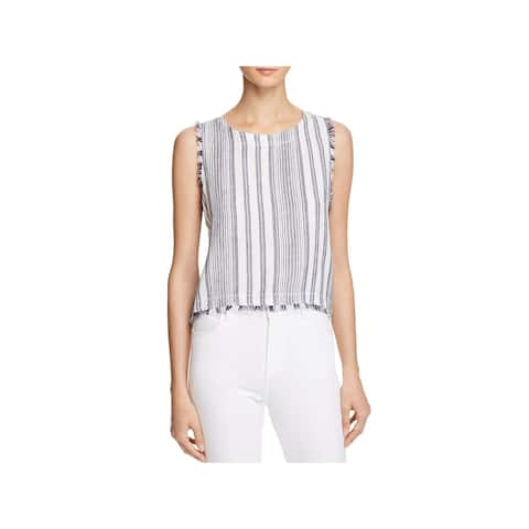 Bella Dahl Womens Casual Top Fringed Button Back - L