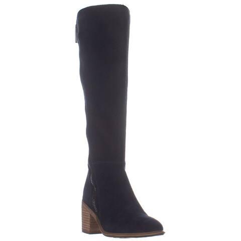 Carlos by Carlos Santana Ashbury Chunky Heel Boots, Inkwell Suede
