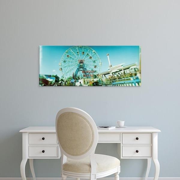 Easy Art Prints Panoramic Image 'Ferris wheel, Wonder Wheel, Coney Island, Brooklyn, New York City' Canvas Art