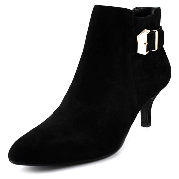 Anne Klein Faeryn Women Pointed Toe Suede Black Bootie