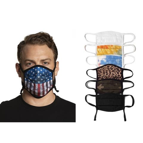 Sportsman Maverick Adjustable Unisex Comfort Face Masks - 4 pack