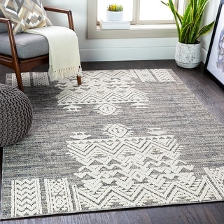 Link to Campbell Indoor/ Outdoor Tribal Area Rug Similar Items in Rugs