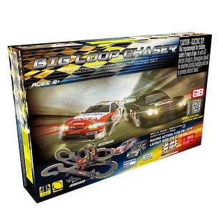 Link to Big Loop Chaser Road Racing Slot Car Set - Electric Powered Similar Items in Toy Vehicles