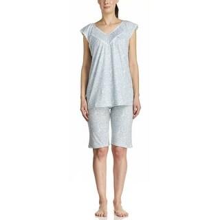 Body Touch Women's Sleeveless Paisley Top & Bermuda Pajama Set