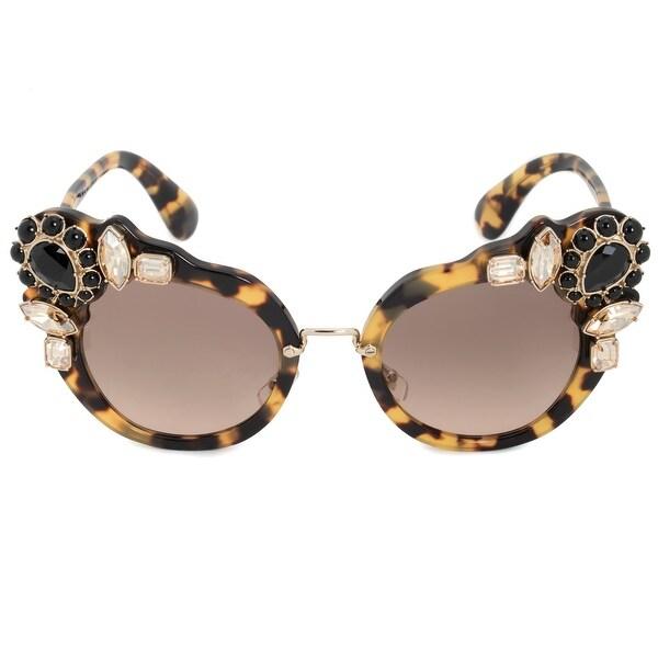 1cfdd70ddb Shop Miu Miu Butterfly Sunglasses SMU04SS 7S03D0 52 - Free Shipping ...