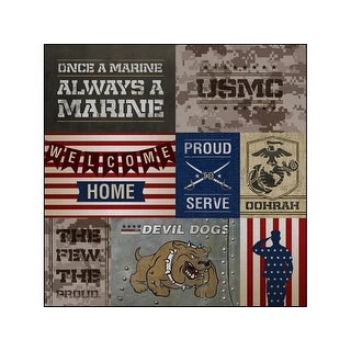 Paper House Paper 12x12 Marines Tags